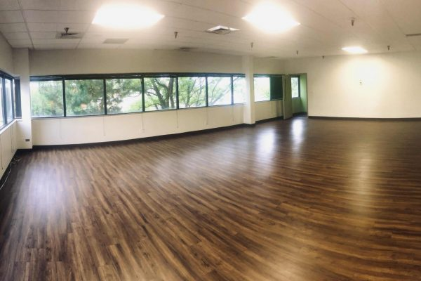 900 ft² — The Dojo offers elegant space most readily to groups and events looking to move. This beautifully crafted space offers sunrise views to the east and access to all our third floor amenities like the outdoor terrace, showers, and kitchenette.